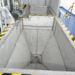 Installation of sludge chute